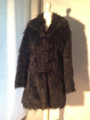 Fake Fur Mantel Vintage // Ethno // Boho // Hippie von Necessary Evil Gr. XS