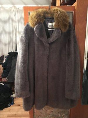 Essentiel Antwerp Cappotto in eco pelliccia multicolore
