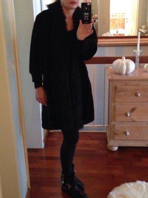 Fake Fur Mantel von Zara Größe M