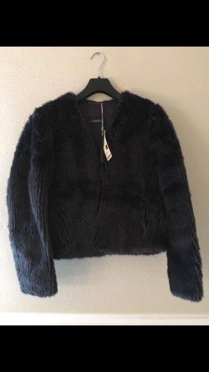 Esprit Fur Jacket dark blue