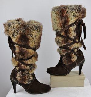 Fun&Co Fur Boots multicolored suede