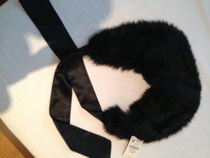 Fake Fur-Stola/Kragen mit Schleife, neu mit Etikett