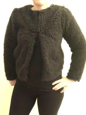 H&M Divided Fur Jacket black