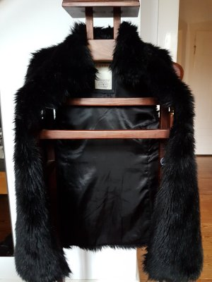 Esprit Fur vest black fake fur