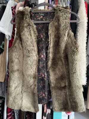 Colours of the World Fur vest multicolored