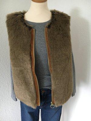 Fake Fur Weste Blogger-Style neuwertig