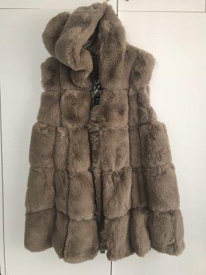 Fake Fur Vest taupe