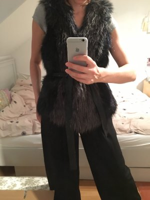 Zara Fur vest multicolored
