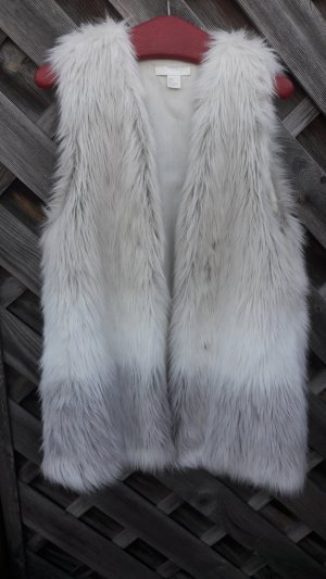 H&M Smanicato di pelliccia multicolore Tessuto misto