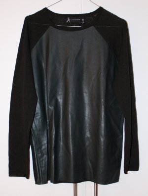 FAKE LEATHER LONGSLEEVE // DUNKELGRÜN