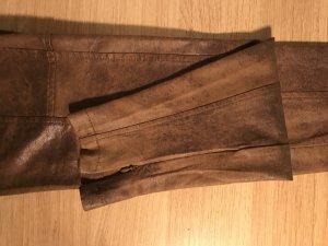 Fake Lederhose in braun