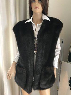 Heine Giacca di pelliccia marrone scuro