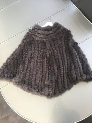 Giacca di pelliccia talpa
