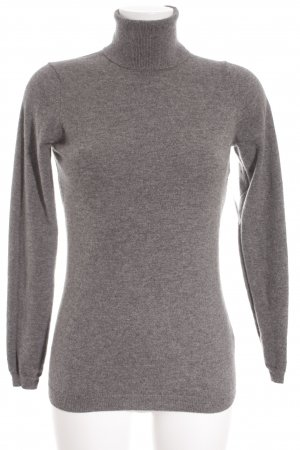 Falconeri Rollkragenpullover grau meliert Business-Look