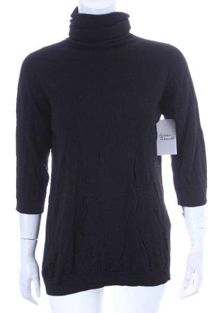 Falconeri Rollkragenpullover schwarz minimalistischer Stil