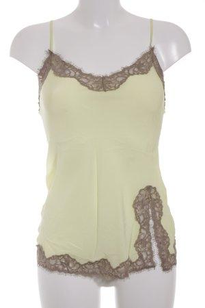 Falconeri Top con bretelline giallo chiaro-color cammello stile lingerie