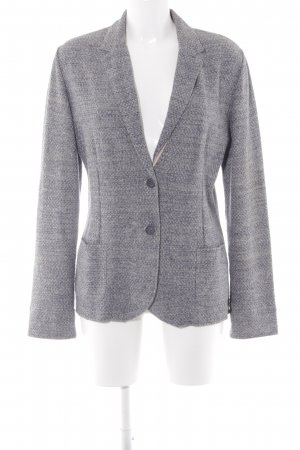 Falconeri Knitted Blazer light grey-slate-gray weave pattern structure style
