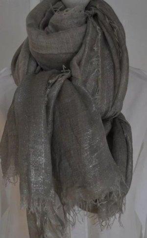 Faliero sarti Bufanda de cachemir color plata-gris claro