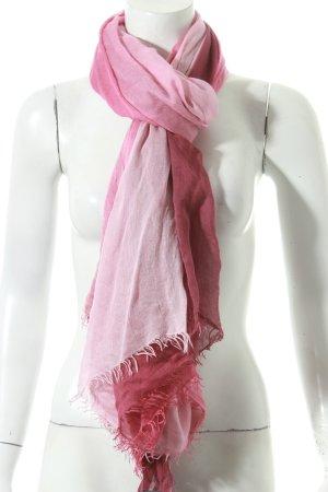 Faliero sarti Schal rosa-violett Farbverlauf Fransenbesatz