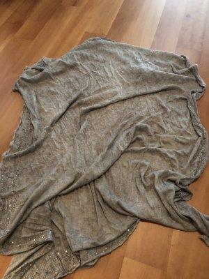 Faliero sarti Bufanda de cachemir taupe-marrón grisáceo