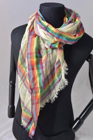 FALIERO SARTI Schal Tuch bunt unisex Neu Leinen Baumwolle Etikett Streifen