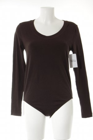 Falke Camicetta body marrone scuro stile semplice