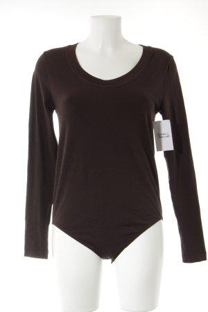 Falke Bodysuit Blouse dark brown simple style