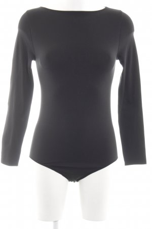 Falke Shirtbody schwarz Business-Look
