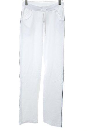 Falke Pantalon de sport blanc Motif de tissage style décontracté