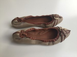 Burberry Foldable Ballet Flats cognac-coloured-sand brown synthetic fibre