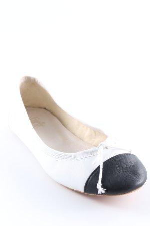 Ballerines pliables noir-blanc style classique
