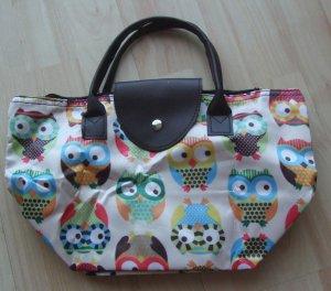 Faltbare Tasche von PINK PEARL - Eulen-Design