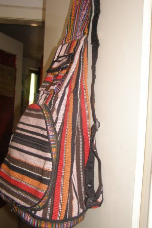 Backpack multicolored cotton
