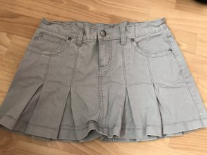 Falten Mini Rock Jeans