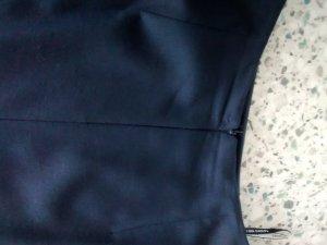 Jupe à plis bleu foncé laine vierge