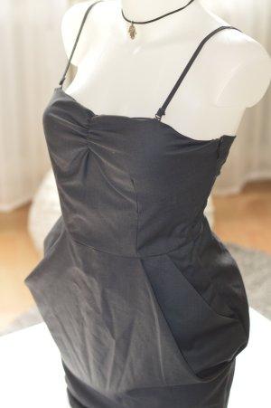 Tally Weijl Vestido peplum gris oscuro-gris antracita