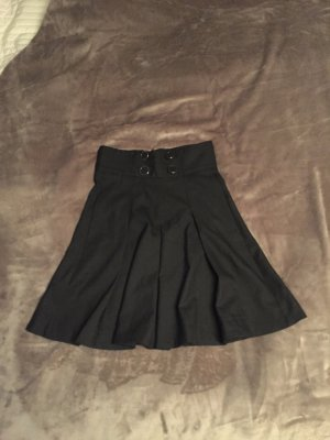 French Connection Plaid Skirt black-silver-colored