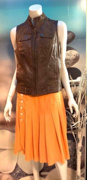 Ralph Lauren Plaid Skirt light orange