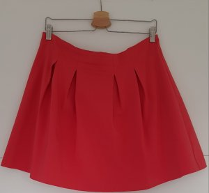 Mint&berry Jupe à plis rouge framboise