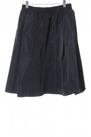 Plooirok antraciet-zwart klassieke stijl