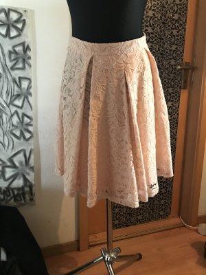 Set Plaid Skirt pink