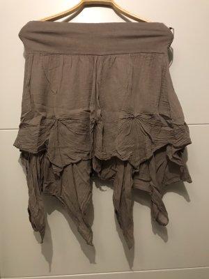 Plaid Skirt grey brown