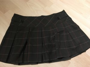 Amisu Plaid Skirt black-grey