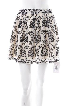 Plaid Skirt cream-black classic style