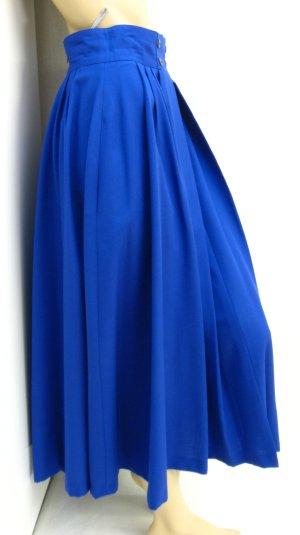 Falda midi azul tejido mezclado
