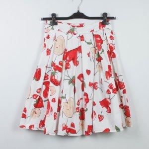 Plaid Skirt white-red cotton