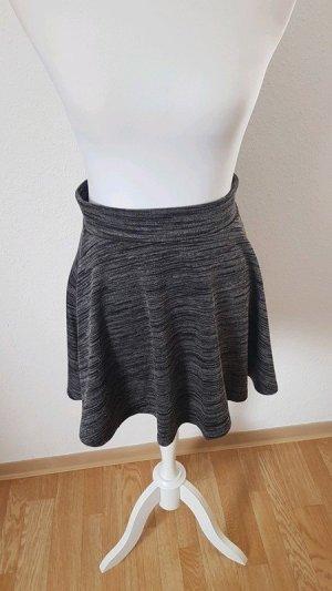 Fishbone Plooirok zwart-donkergrijs Polyester