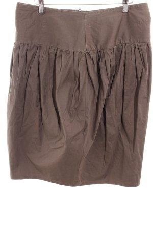 Plaid Skirt light brown casual look