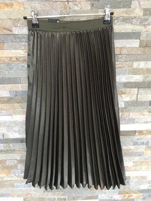 Faltenrock in Metallic Khaki-Grün gr. 32 primark NEU