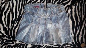 faltenrock Jeans nadelstreifen usedlook s. Oliver QS
